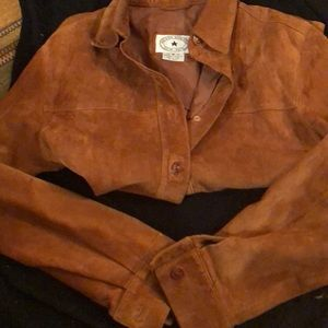Rust Reigns Suede Stylish Shirt